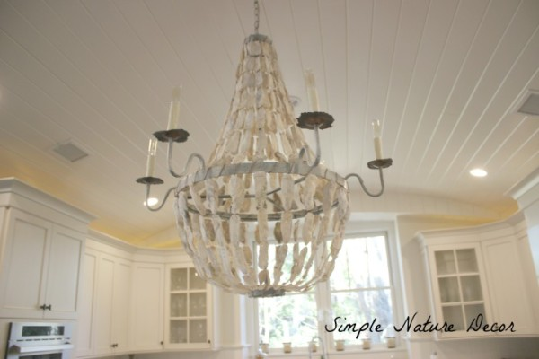shell oyster designer pages products on chandelier